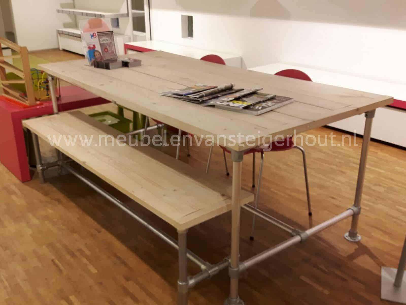 Steigerbuis Tafel Onderstel : Steigerbuizen tafel steigerbuis tafel k oud is nieuw