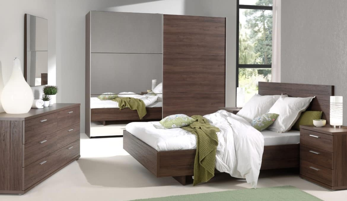 Chambre Contemporaine Chambre Adulte Contemporaine Coloris Noyer Manolo