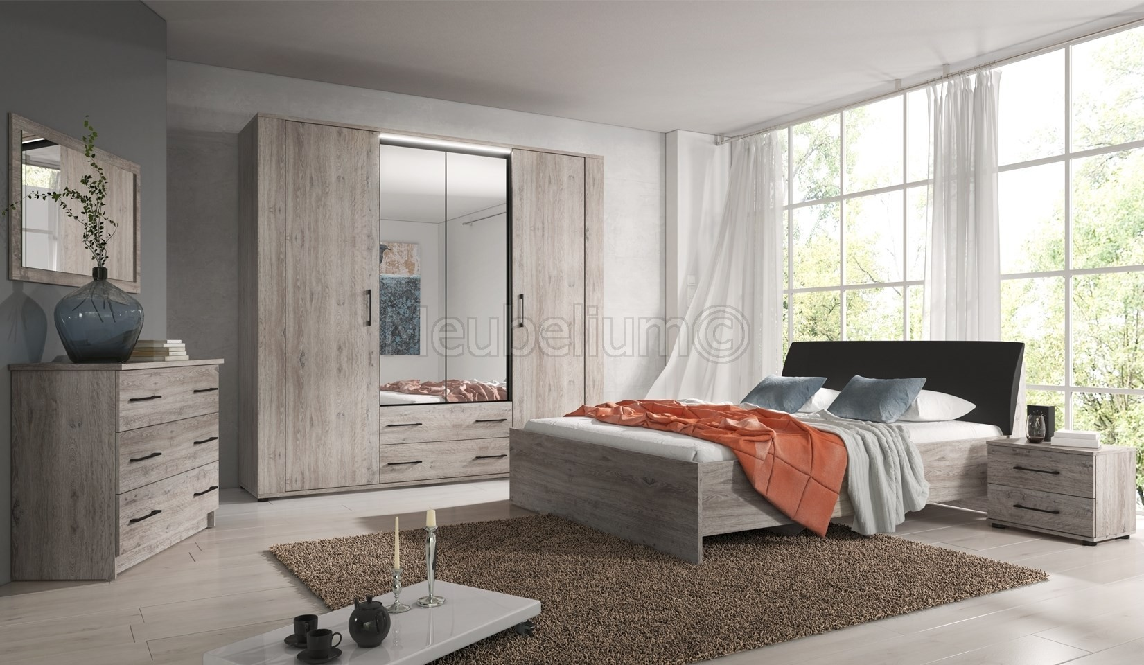 Chambre Contemporaine Chambre Adulte Contemporaine Chêne Gris Galet
