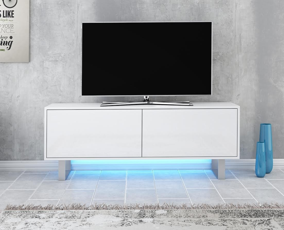 Tv Meubel 140 Tv-meubel Knight - Wit - 140 Cm - Tv-meubels - Kasten En