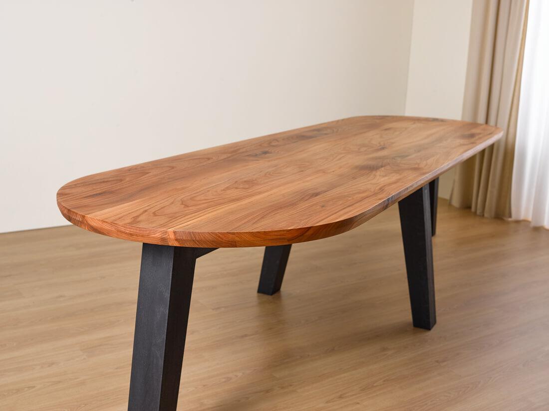 Eiken tafel zwart verven houten tafel wit verven