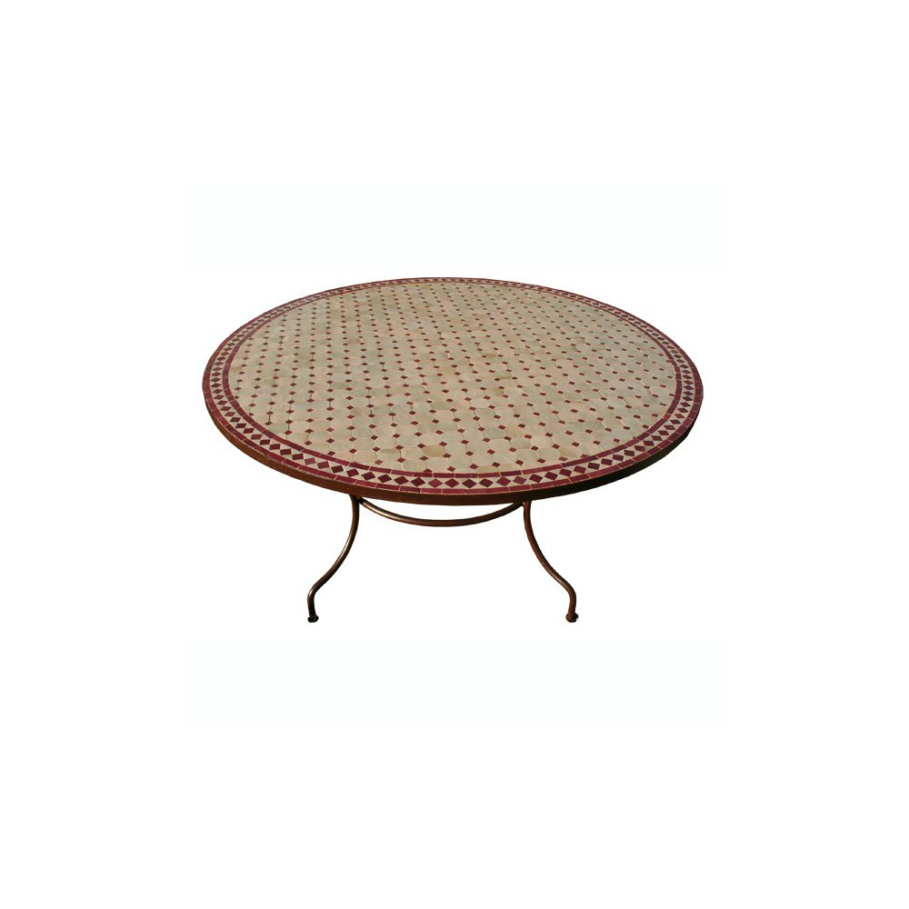 Table Marocaine Mosaique | Table Ronde En Mosaique Joli Table Basse ...