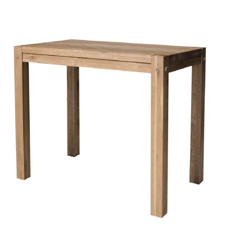 Table Exterieur Teck Table Haute Chene Massif Huilé 120cm Oakwood