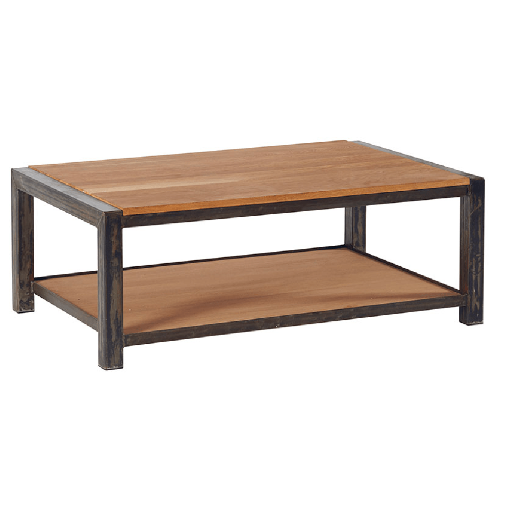 Mobilier Industriel Loft Table Basse Chene Metal Style Industriel Loft Rectangle 110cm