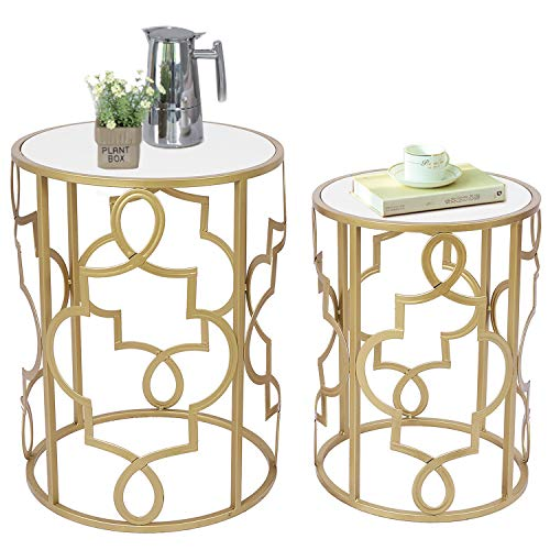 Umi By Amazon Lot De 2 Tables Gigognes Rondes Table D