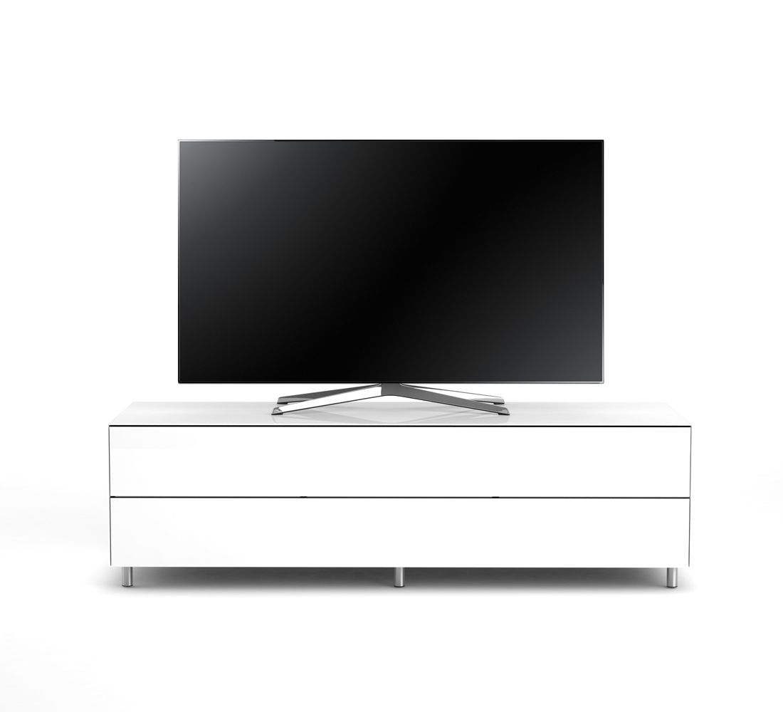 Meuble Tv épuré Meuble Tv Lowboard Epure Single Tidy Xl Verre Blanc Tv