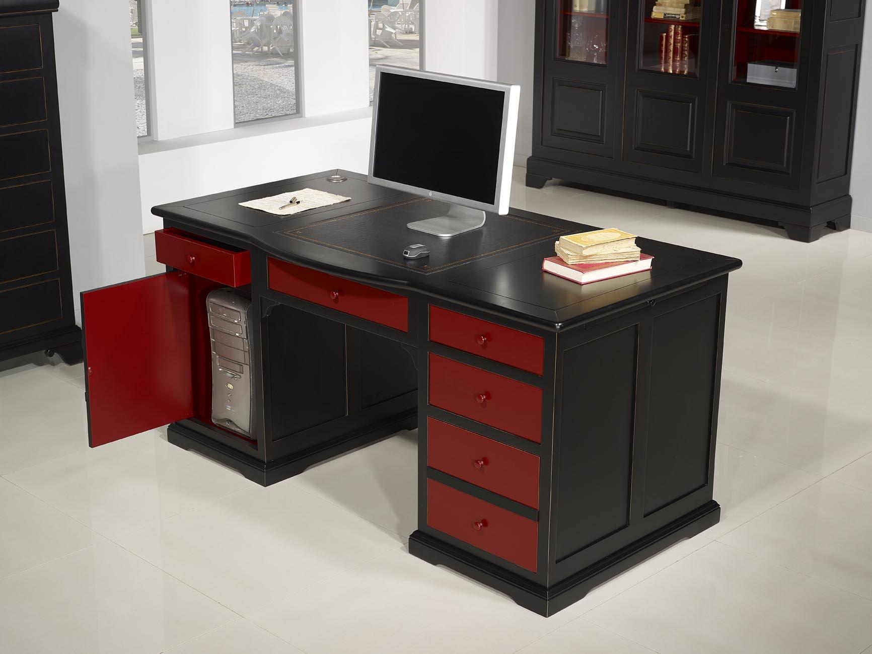 Meuble bois rouge cabinets meubles de rangements alizé