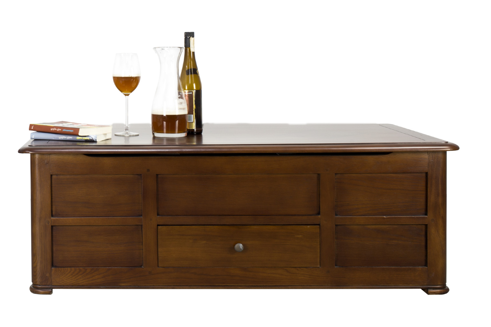 Meuble Bar Chene Table Basse Bar Hugo En Chêne De Style Louis Philippe