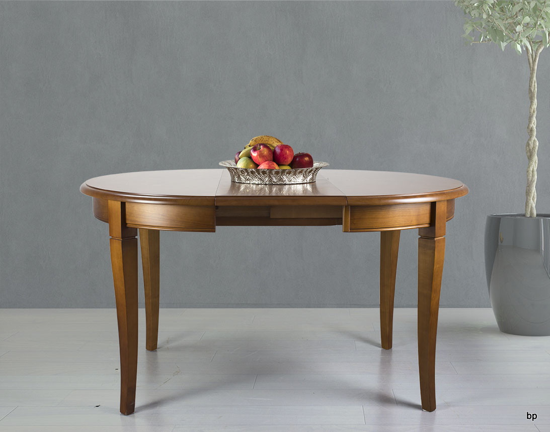Table Ronde 100 Cm Table Ronde 4 Pieds Juliette En Merisier Massif De Style