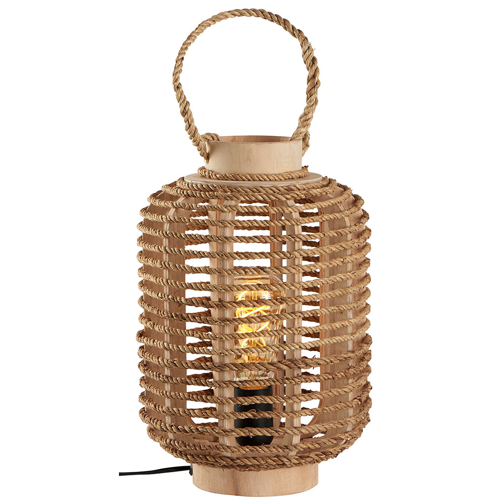 Casa Decoration Magasin Lampe Lanterne Bois Et Corde Naturel Magasin Boisetdeco Cambresis