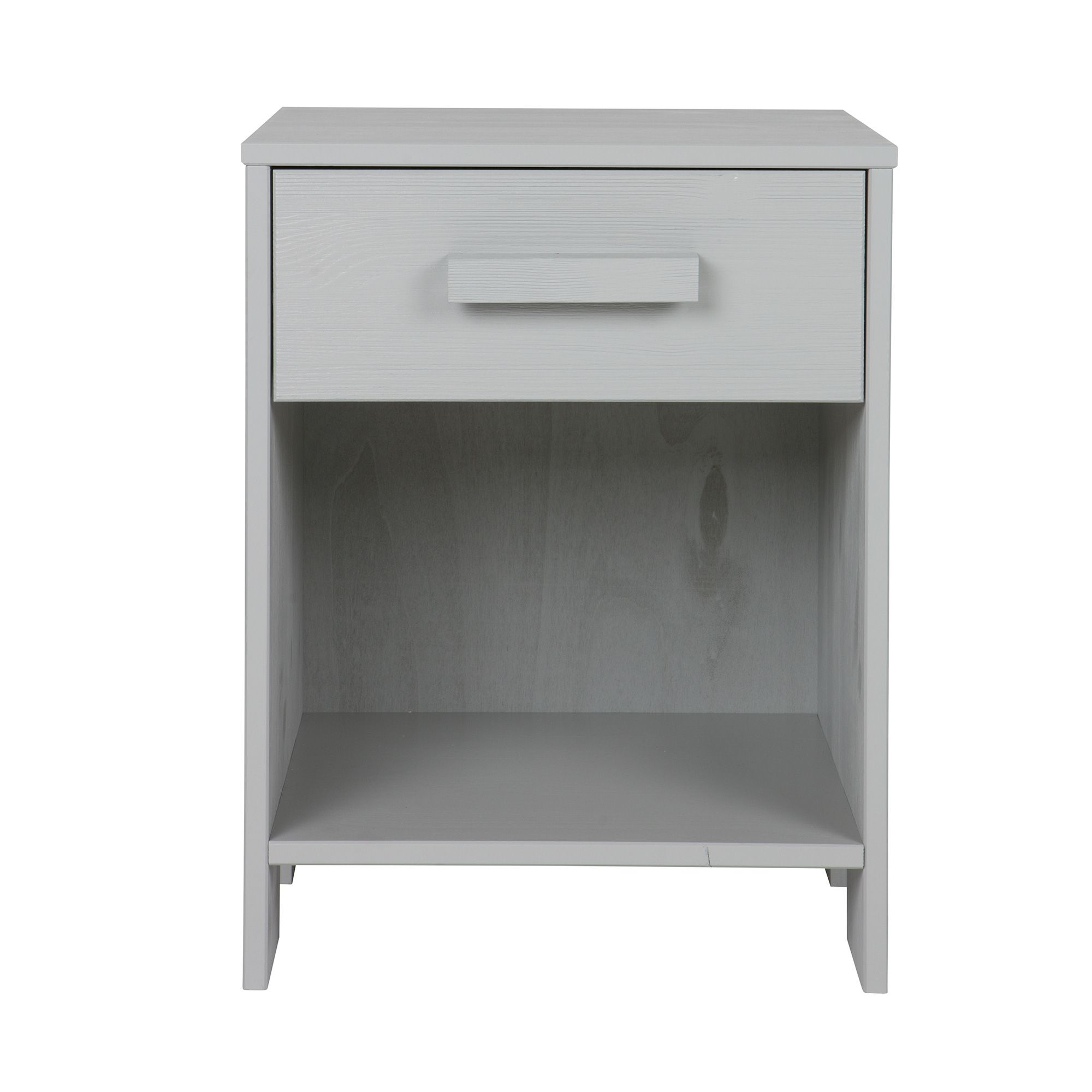 Woood Woood Dennis 1 Drawer Bedside Locker Concrete Grey Meubles - Woood Bed Dennis