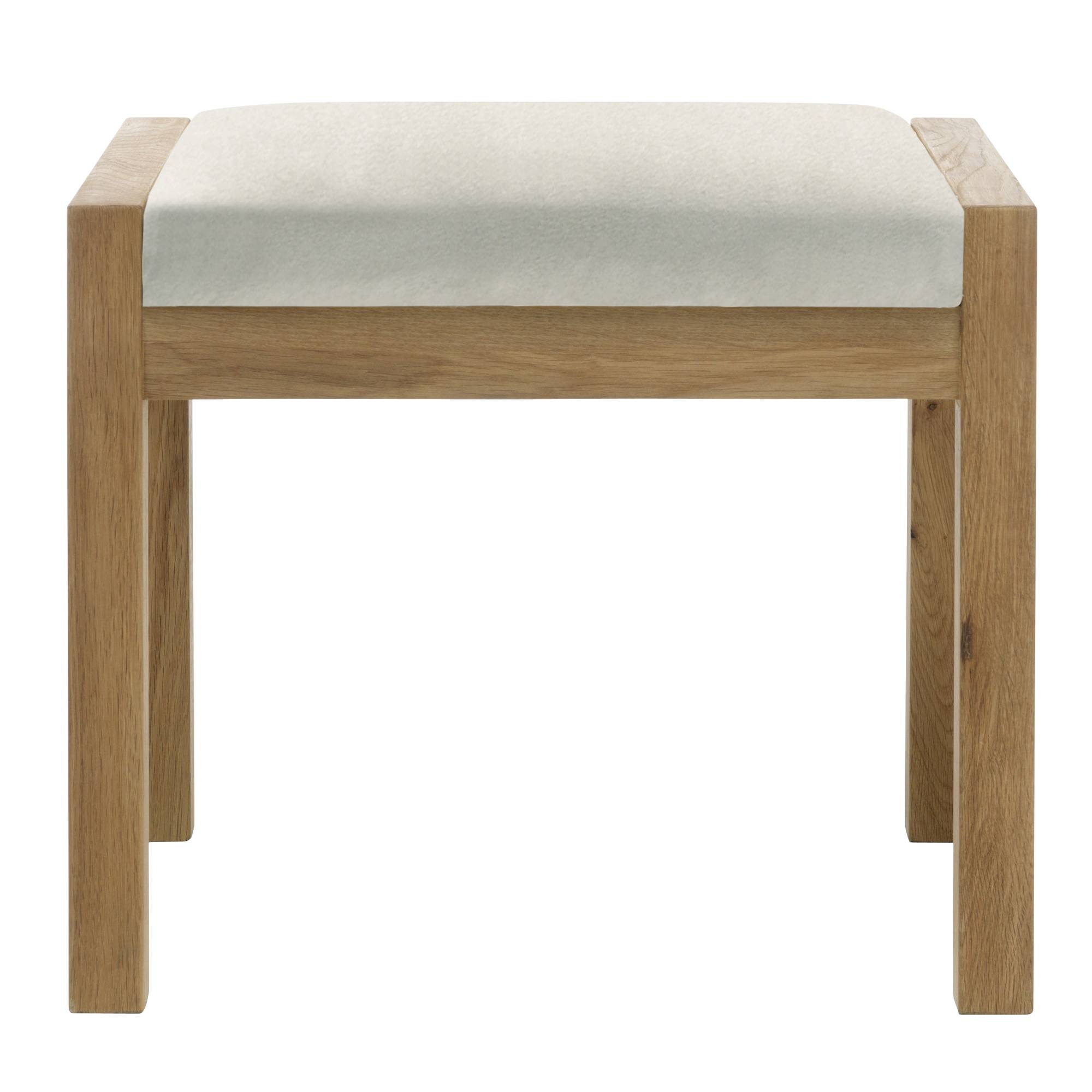 Bedroom Stools And Benches Athens Oak Bedroom Stool C W Beige Fabric Seat Pad