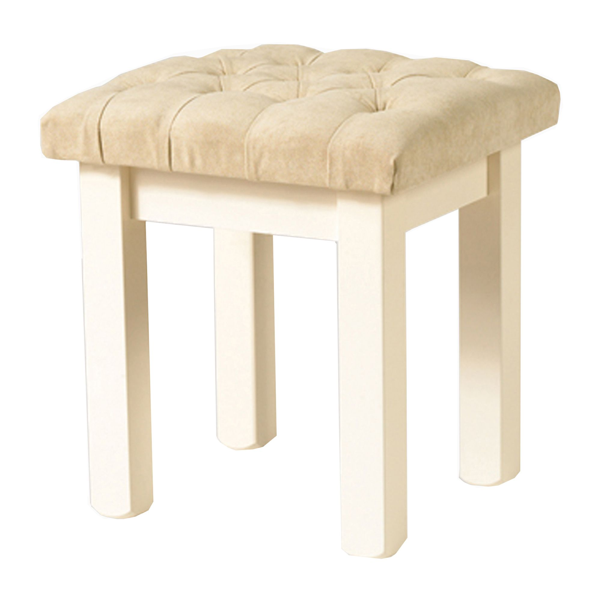 Meubles Furniture Ireland Benedict Zen Creme Oak Trim Bedroom Stool With Upholstered Seat Pad