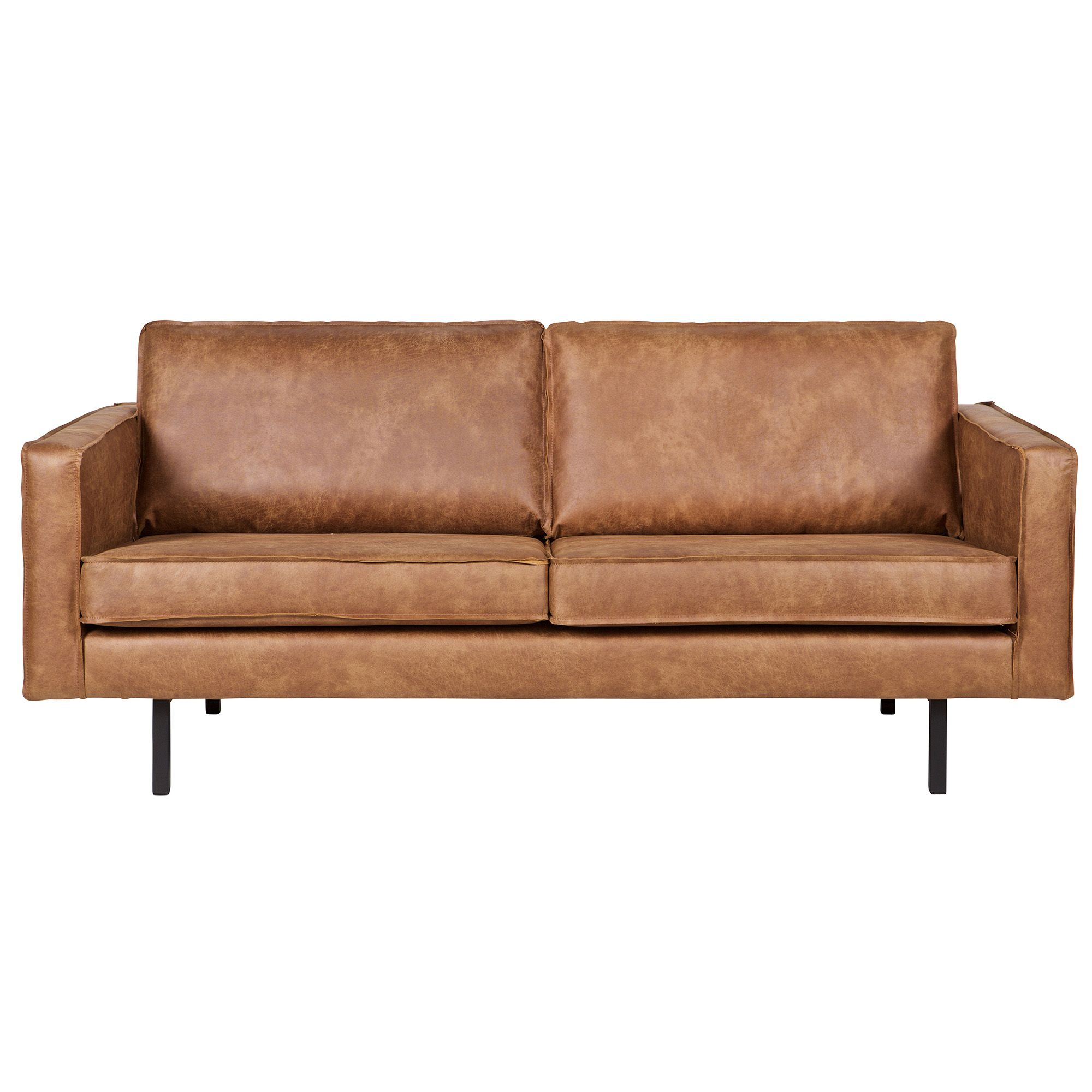 Outdoor Liege Liege 3 Seater Suede Leather Look Sofa Cognac