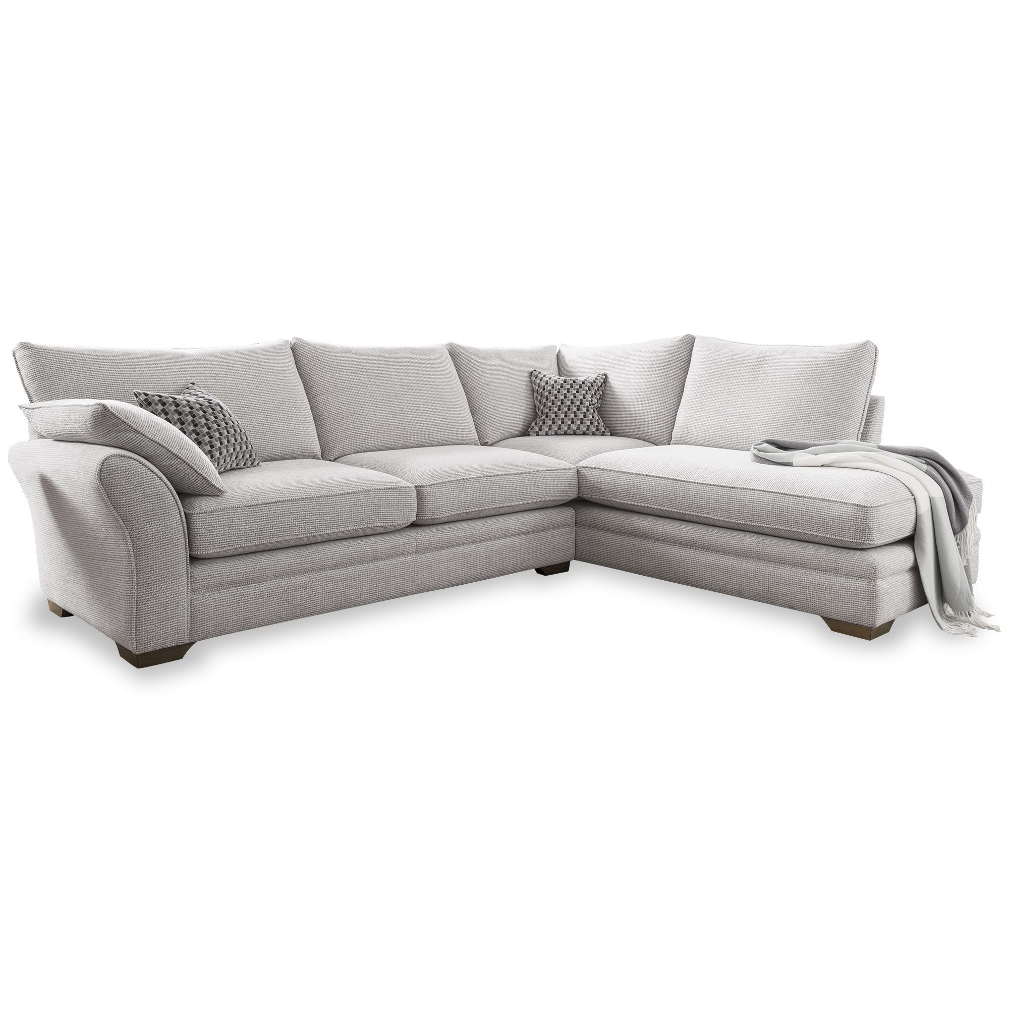 Meubles Fraser Furniture Solano 4 Corner Sofa With Chaise Lhf Fabric C