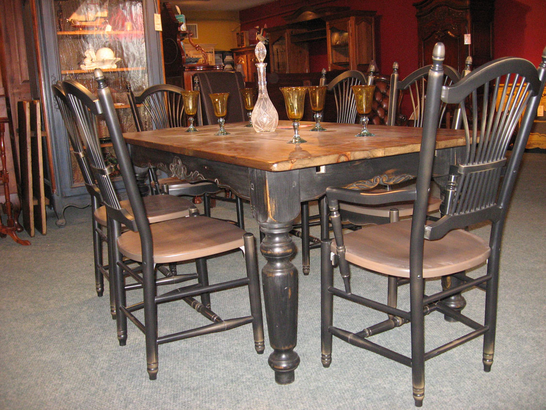 Table Cuisine Bois Massif Dining Room Furniture Meubles Des Patriotes
