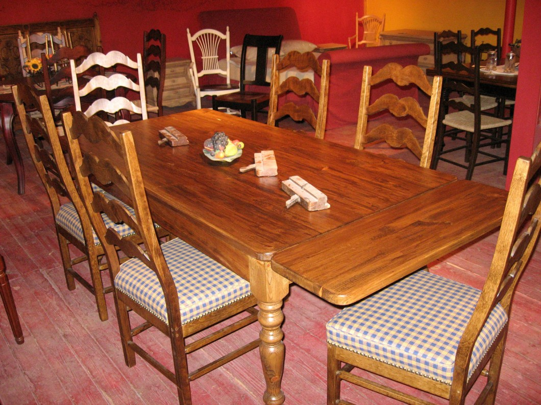 Table Et Chaise En Pin Dining Room Furniture Meubles Des Patriotes