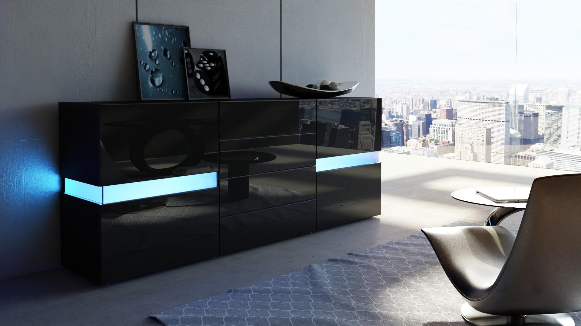 Chambre Meuble Noir | Ophrey Chambre A Coucher Noir Et Blanc Laque