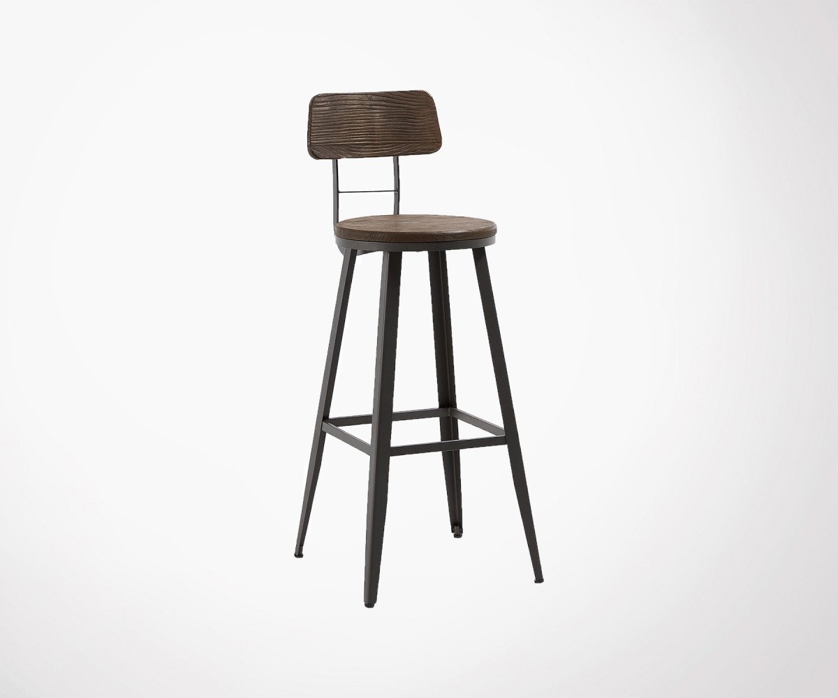 Tabourets De Bar Stool Industrial 104cm Design Bar Stool Metal And Wood Finishes