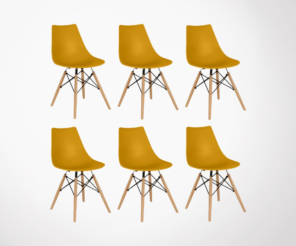 6 Chaises Lot 6 Chaises Design Scandinave Style Dsw édition 2017