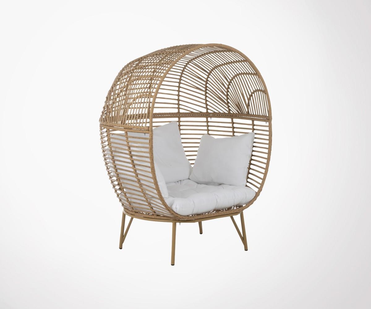 Galettes De Chaises Ovales | Salon De Jardin En Teck Table Ovale 120 ...