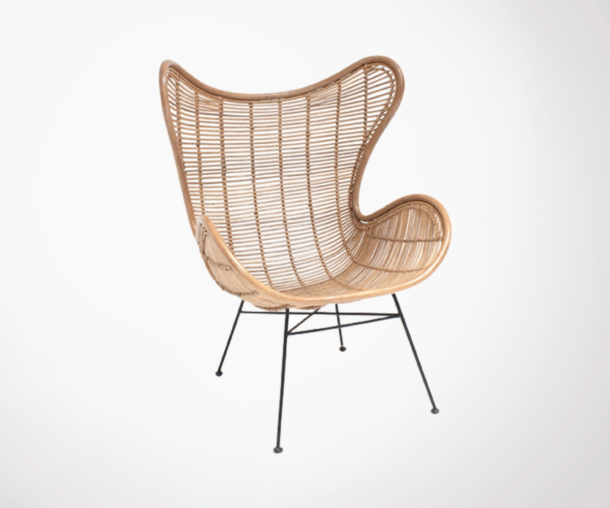 Salon Rotin Fauteuil Design Rotin Naturel Ektor