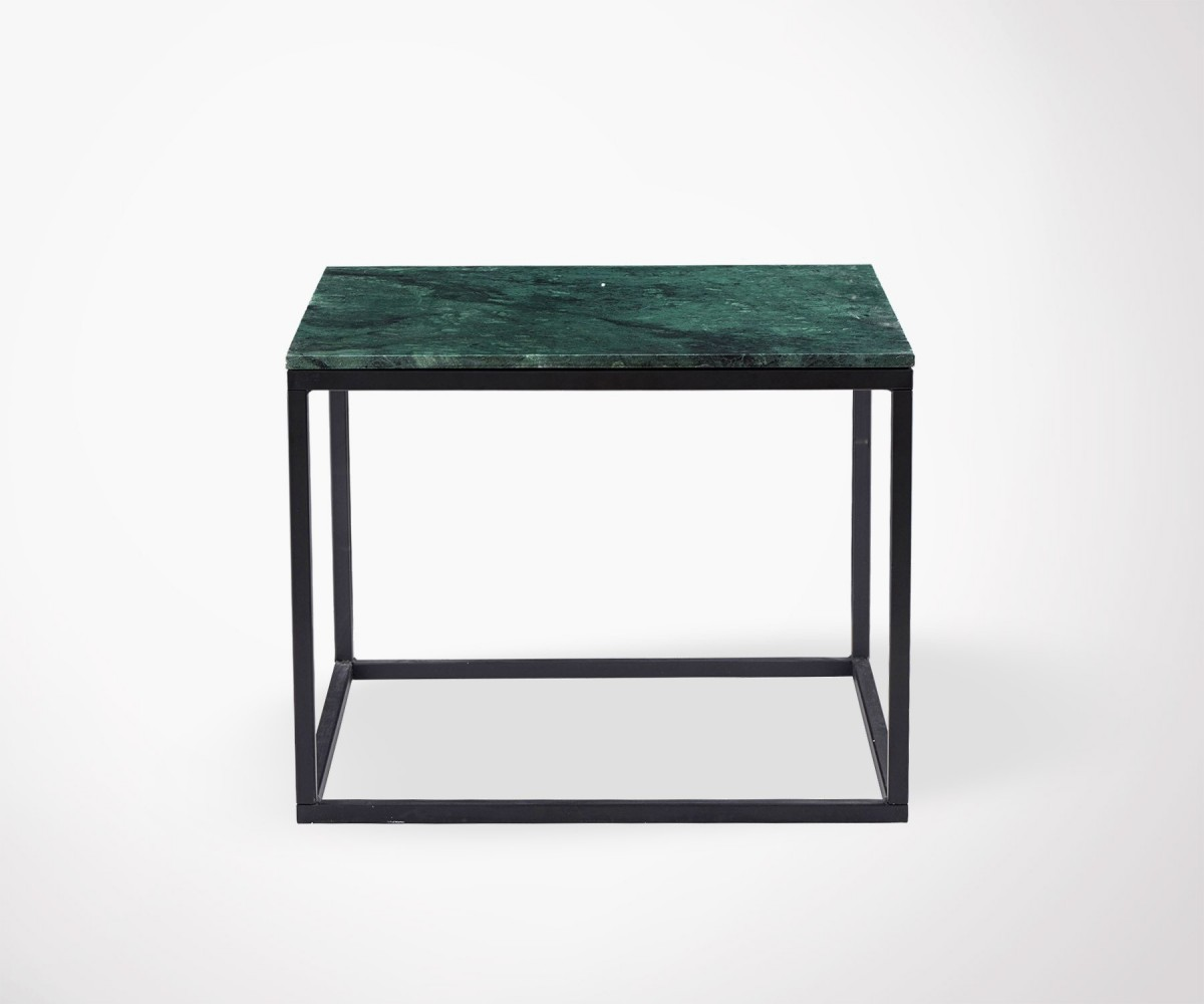 Table Design Carrée Table Basse Carrée Marbre Vert Drez 60cm