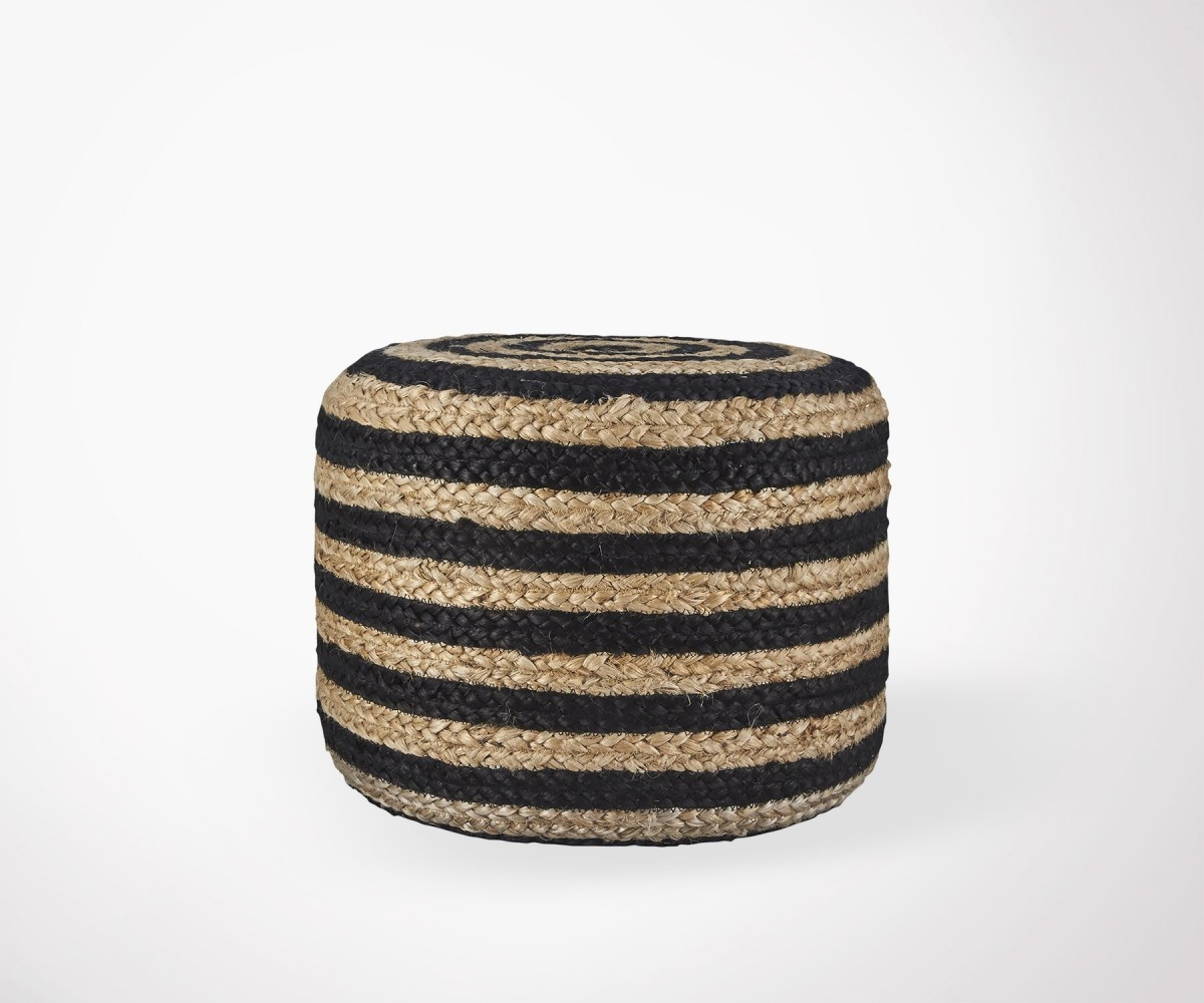 Pouf Salon Pouf Salon Design Ethnique En Jute Naturel House Doctor