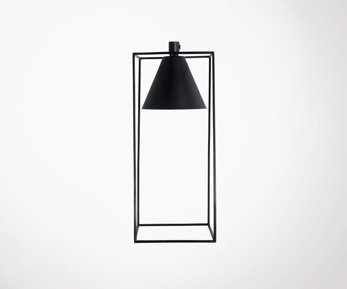 Lampe a poser metal noir lampe de table 3x étagée en métal nickel
