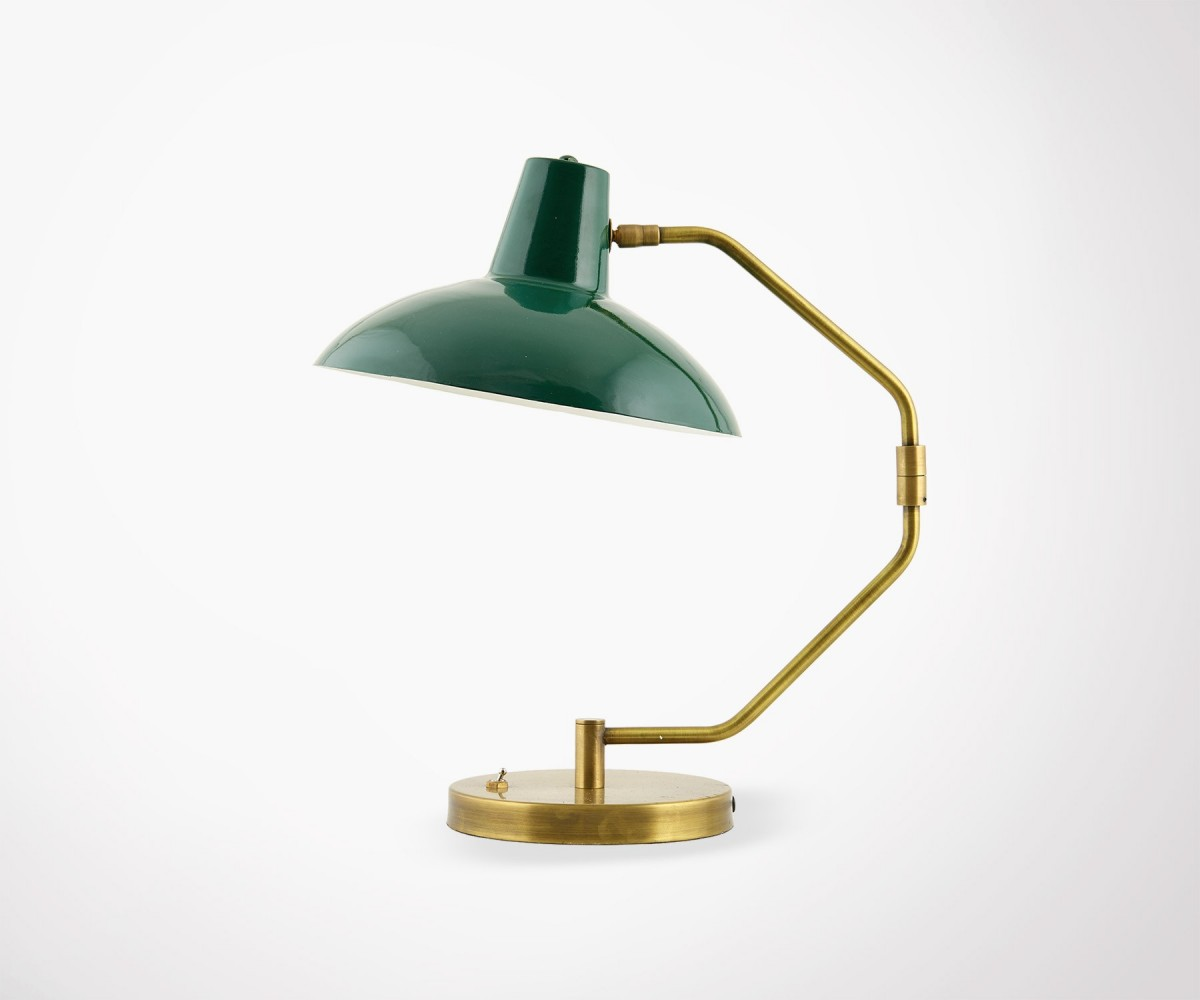 Lampe Gold Vintage Inspired Green And Gold Desk Lamp House Doctor