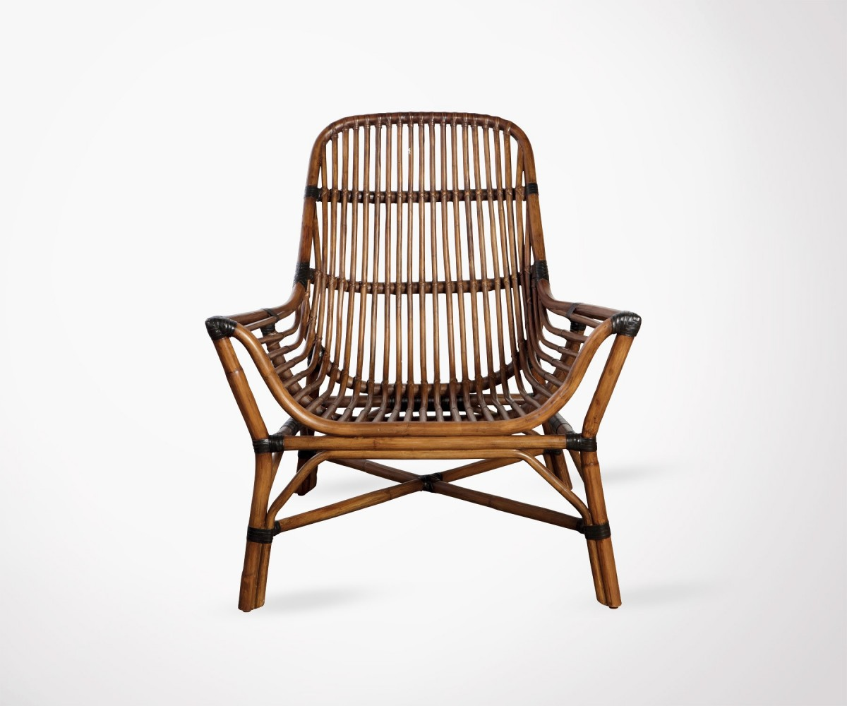 Fauteuil Exterieur Rotin Outdoor Caramel Rattan Lounge Chair Colony