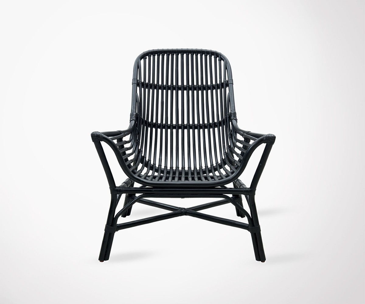 Fauteuil Exterieur Rotin Outdoor Black Rattan Lounge Chair Colony