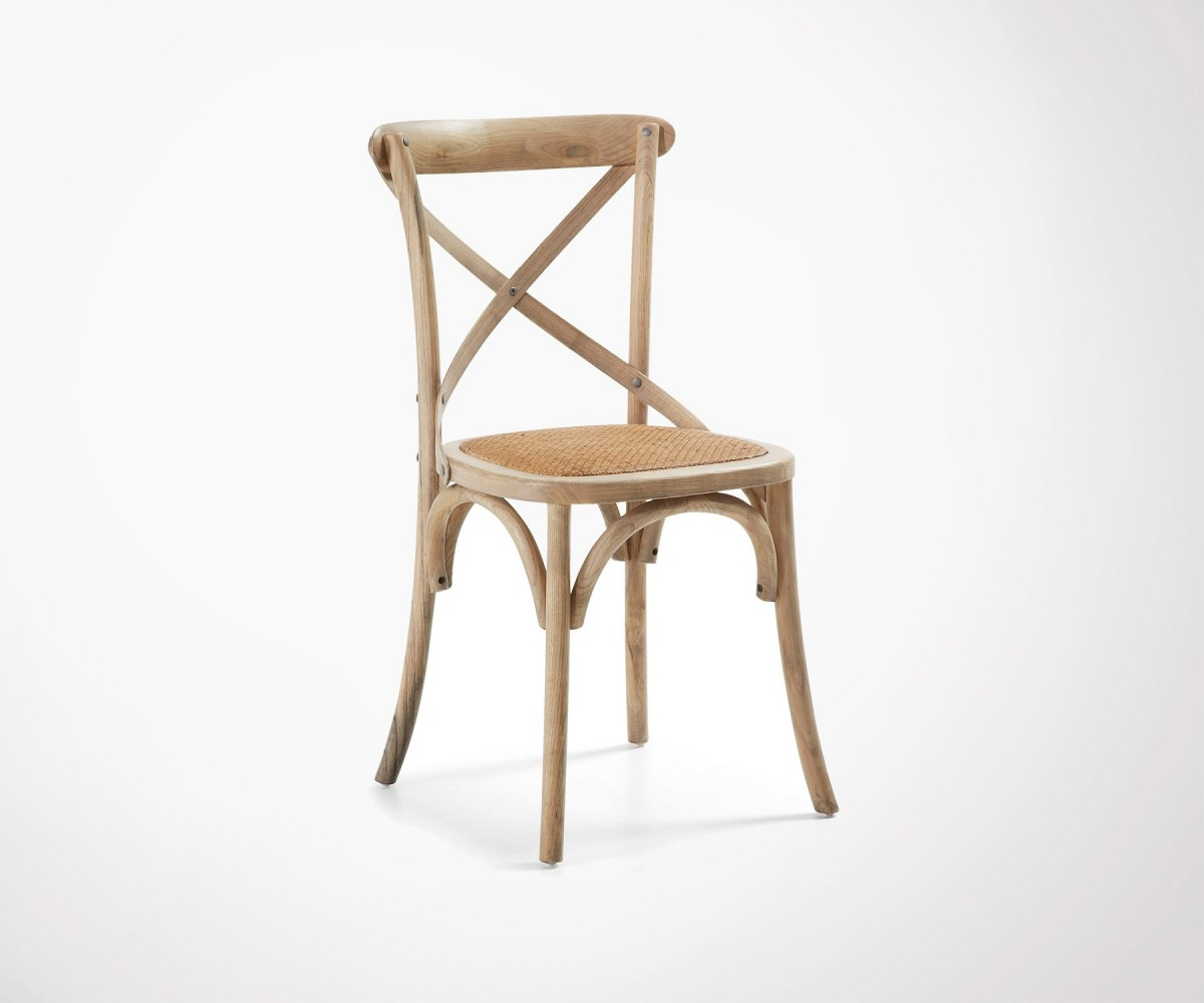 Chaises En Bois Blanc Farm Rustic Design Dining Chair