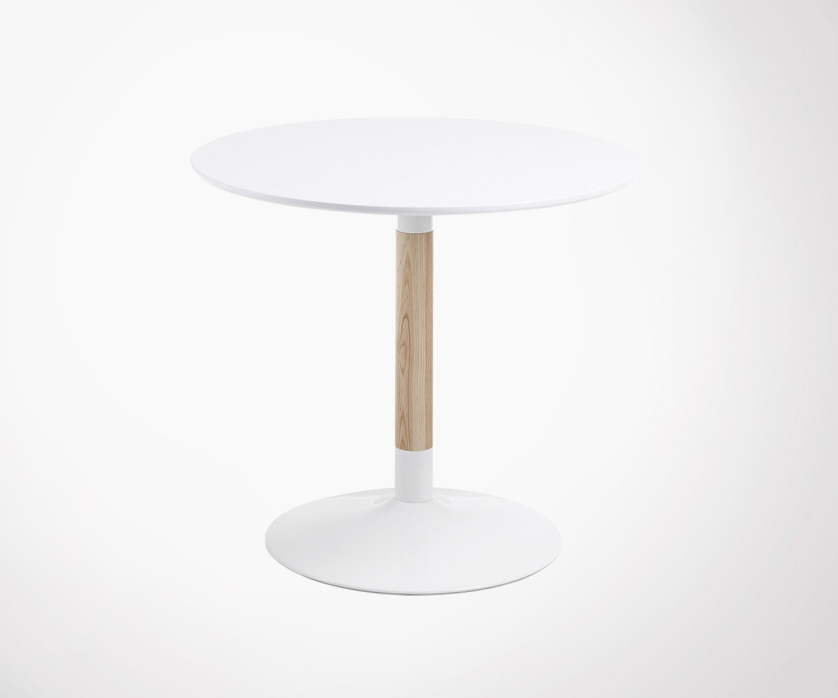 Table Ronde Bois Blanc Table Ronde 90cm Design Moderne Tac