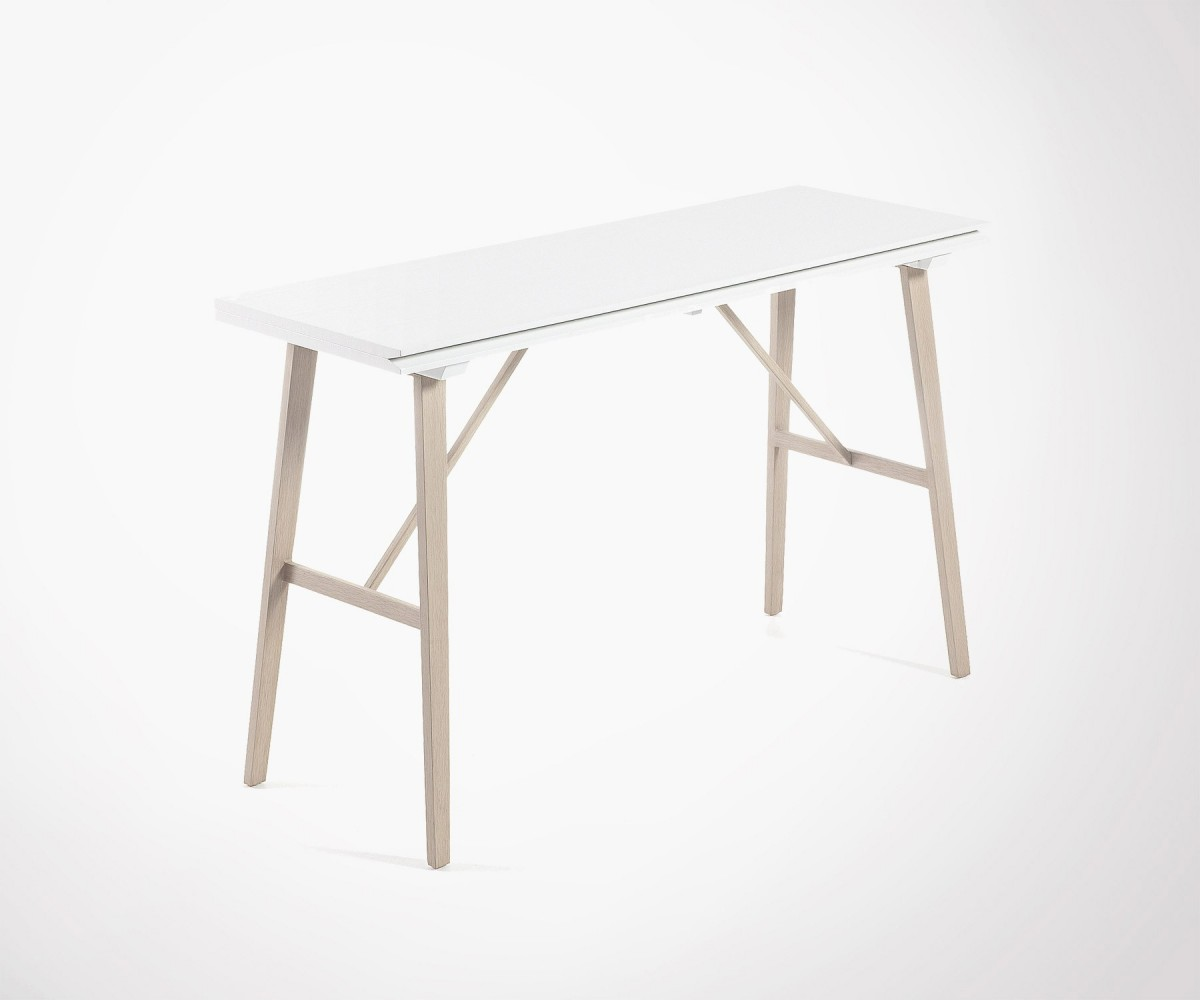 Table étroite Foldable Dining Table 130x45cm Made Of Wood And Iron
