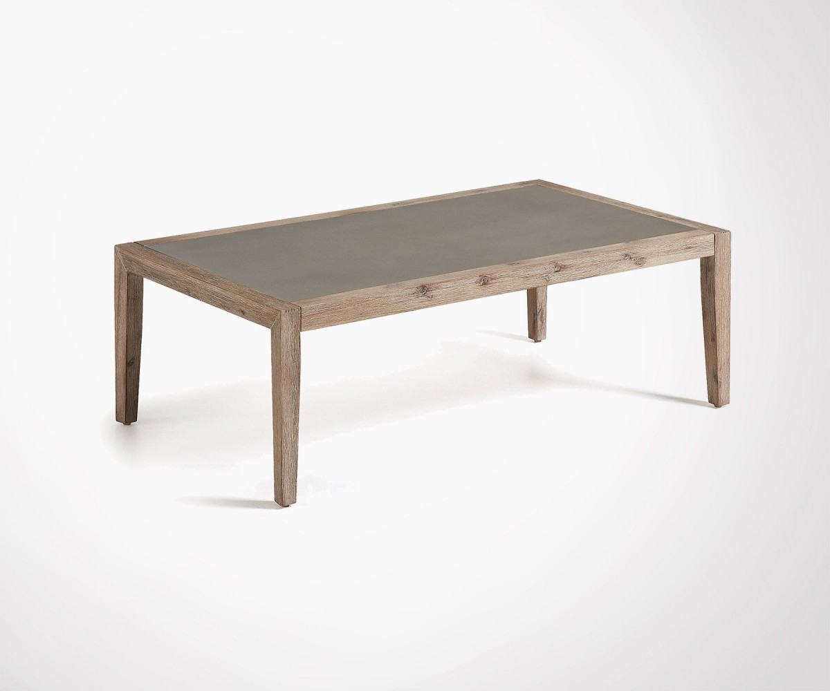 Plateau Table Basse Large Natural Look Coffee Table Wood And Cement Top Price