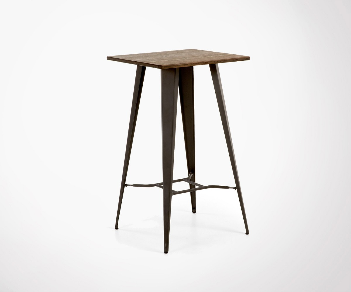 Bar Table Haute Bar Table Made Of Metal Feet And Wood Top Inside Or Outside