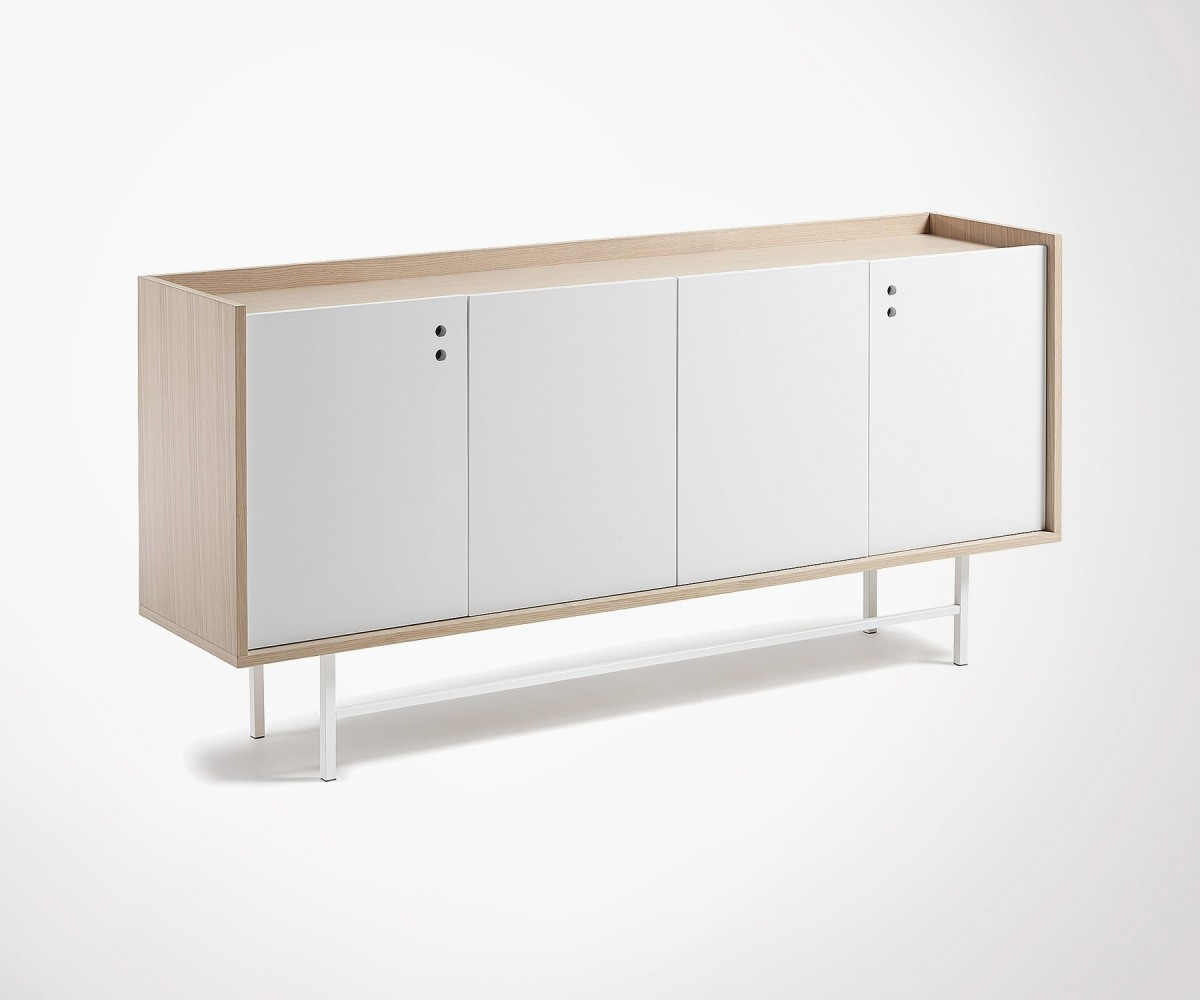 Buffet Salon Blanc Modern Design Buffet With Metal Feet Web Exclusivity