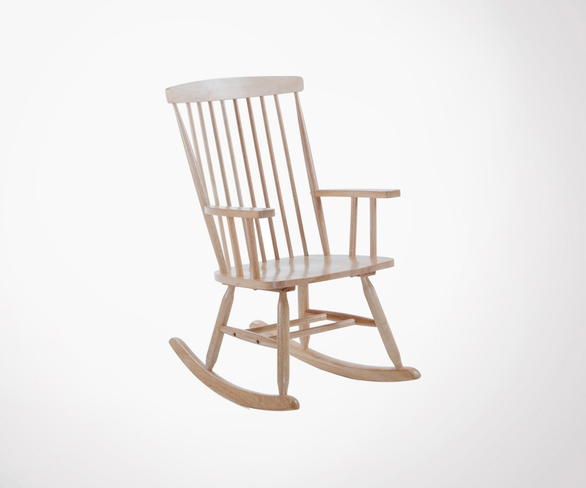 Chaise Rocking Chair Wooden Rocking Chair 2 Colors Farm Style