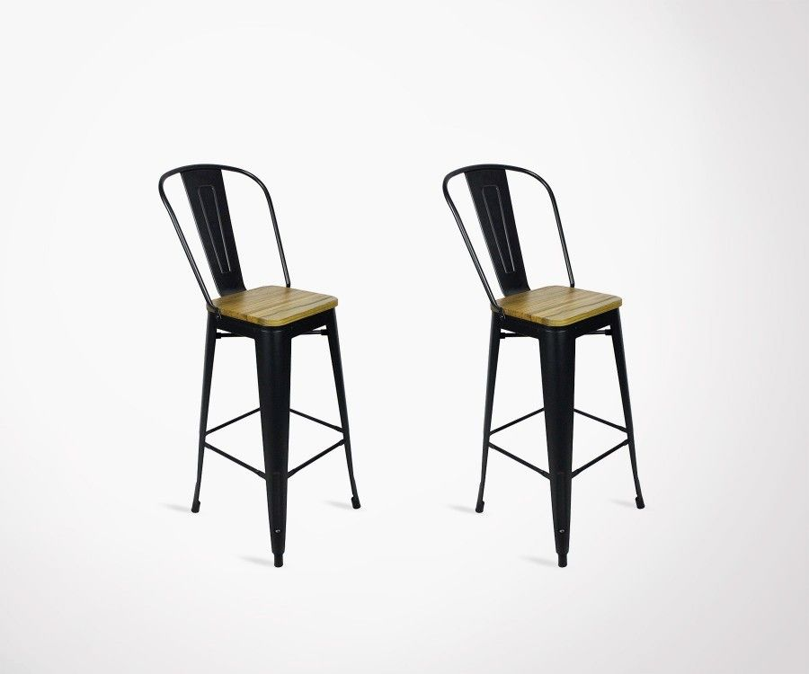 Chaises Design Chez But Lot 2 Chaises Bar Style Café 117cm Redcartel Style Industriel