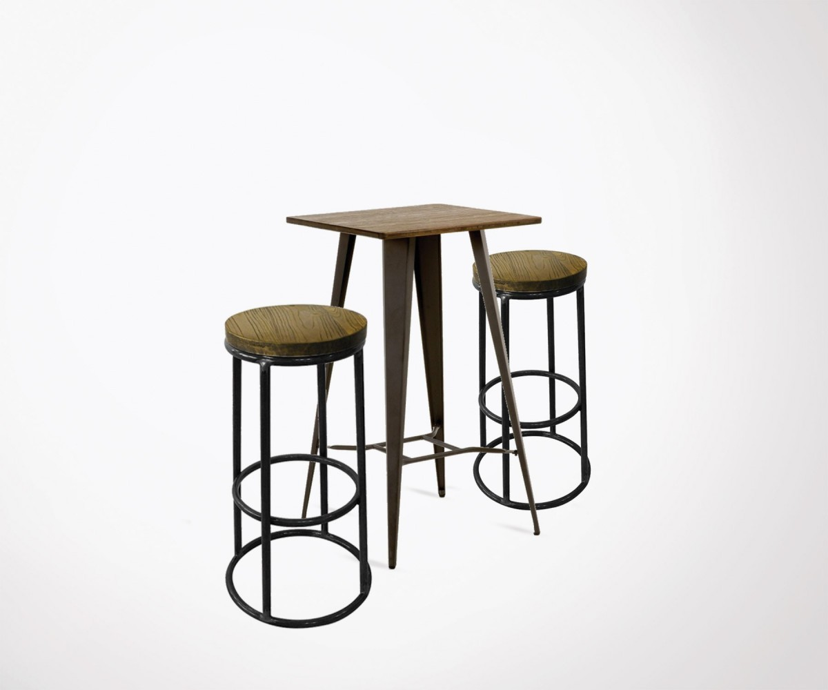Bar Table Haute Set Of 2 Bar Stools Red Cartel And 1 High Table Top Design And Price