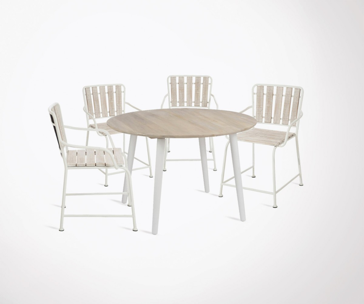 Table à Manger Moderne Modern Dining Table 120cm 4 Country Style Dining Chairs Best Seller