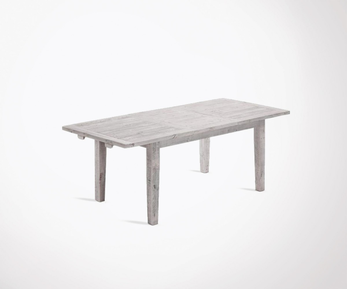 Table Bois Metal Extensible Extensible Dining Table 160 220cm 10 Pers Modern Look