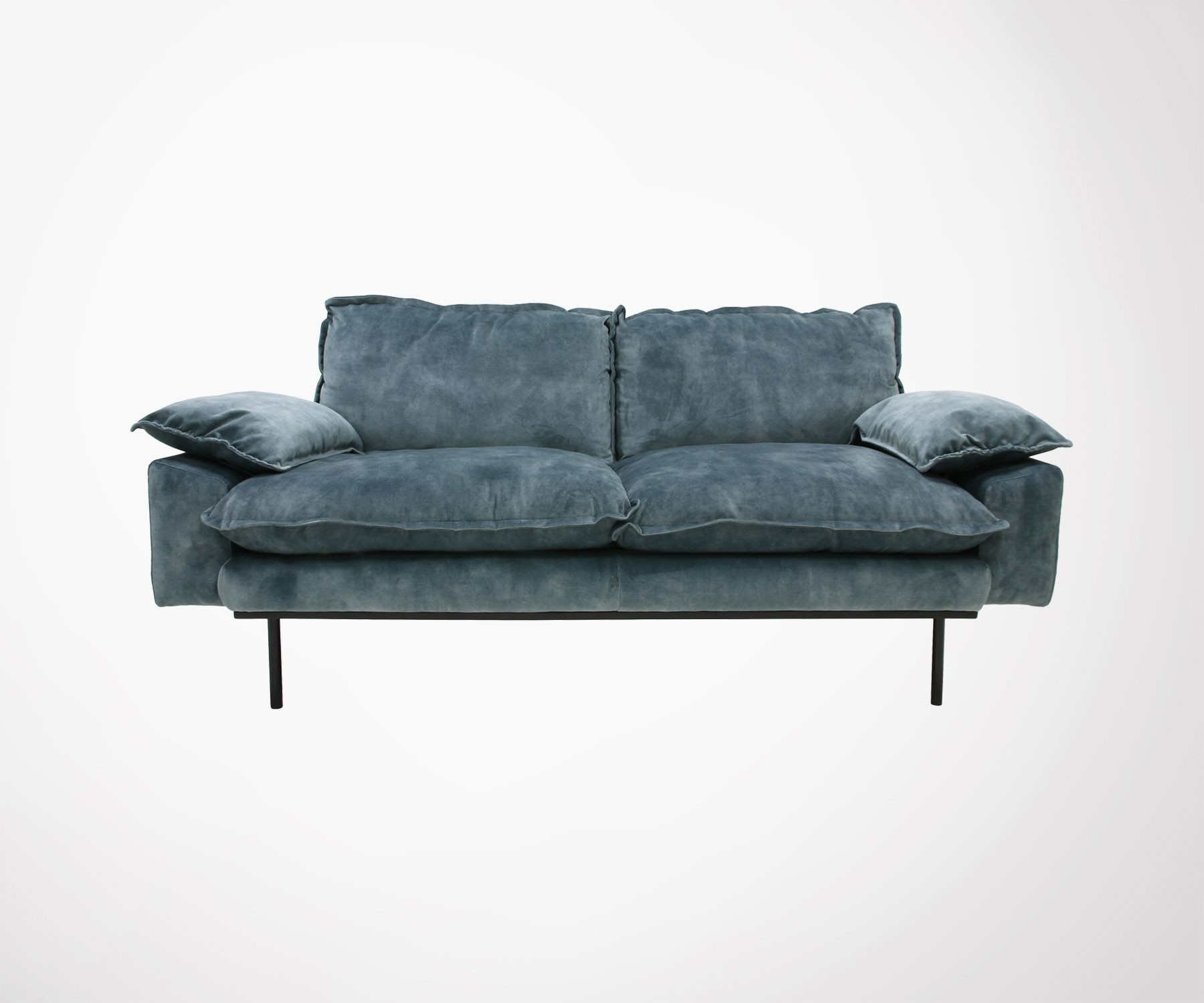 Velour Couch Rattan Sofa Velour
