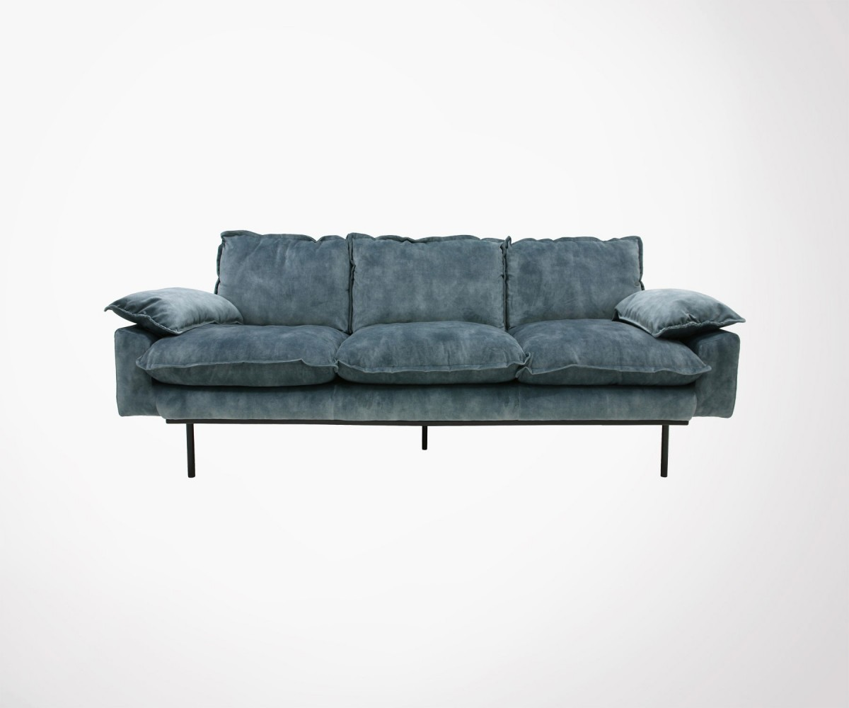 Canapé Crapaud 2 Places 3 Seater Velvet Sofa Hk Living 4 Colors Available Fast Eu Shipping
