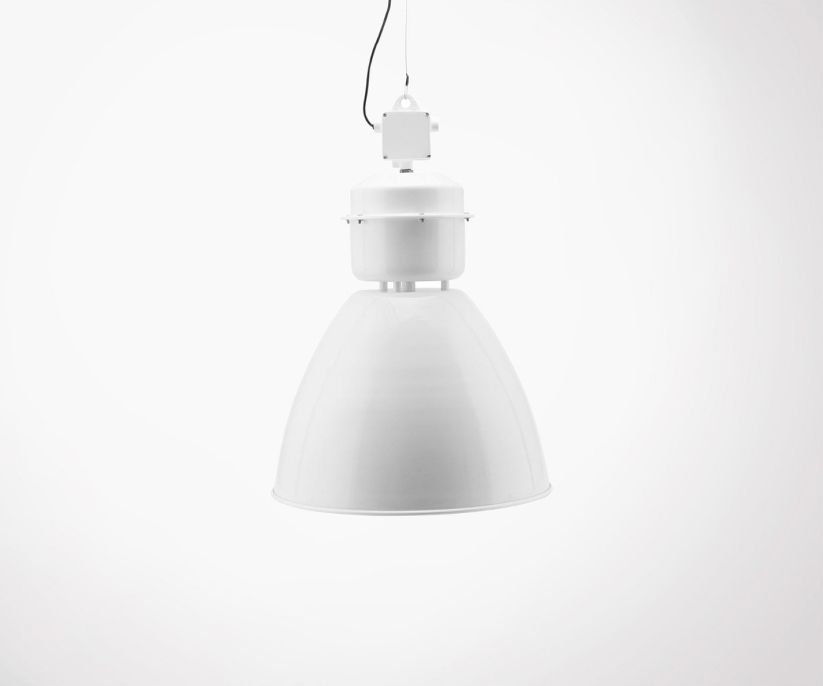 Suspension Industrielle Blanche Suspension House Doctor Volumen Blanc Métal Style Industriel