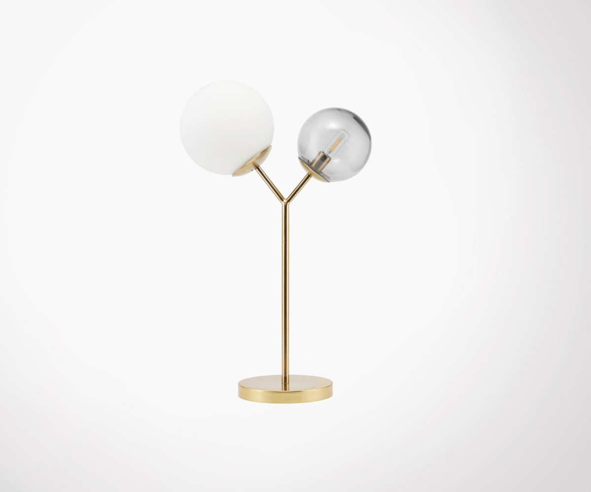 Lampe Design Brass And Glass Design Table Lamp By House Doctor New Trend