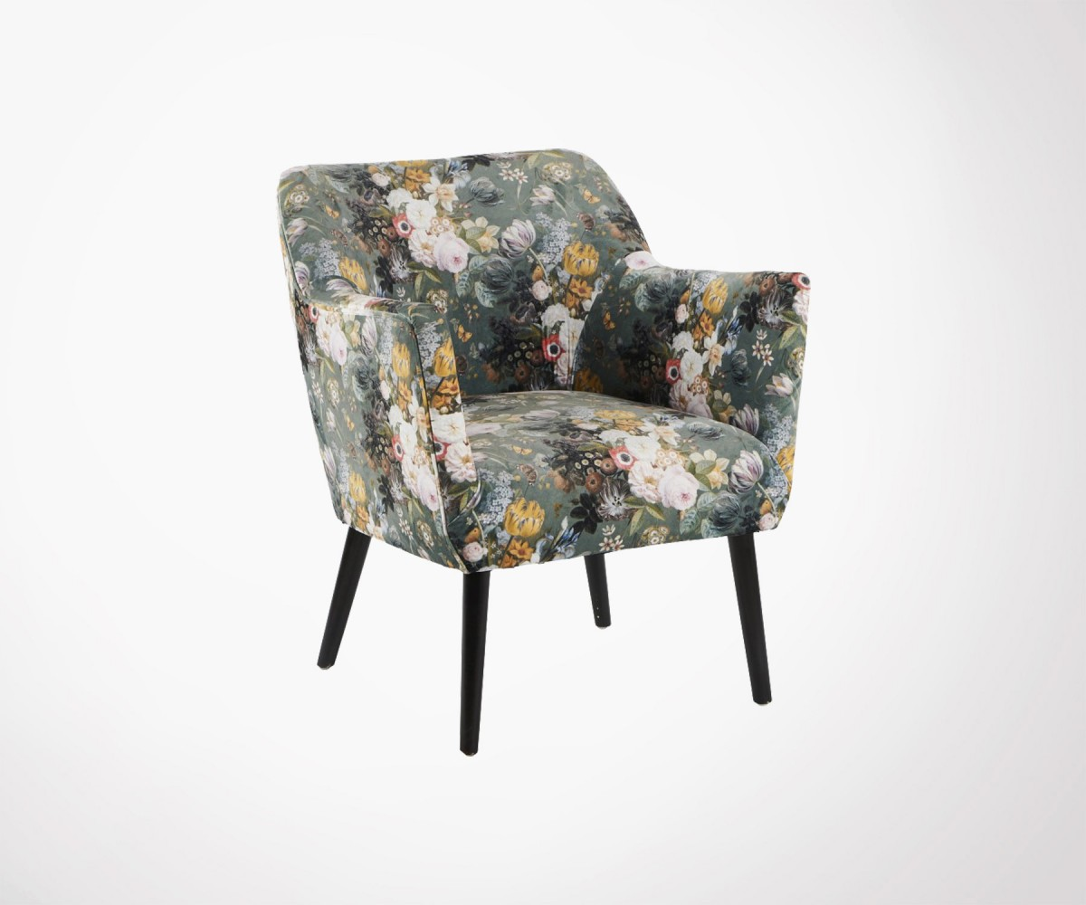 Salon De Jardin Scan Design Floral Fabric Living Room Armchair Floralie