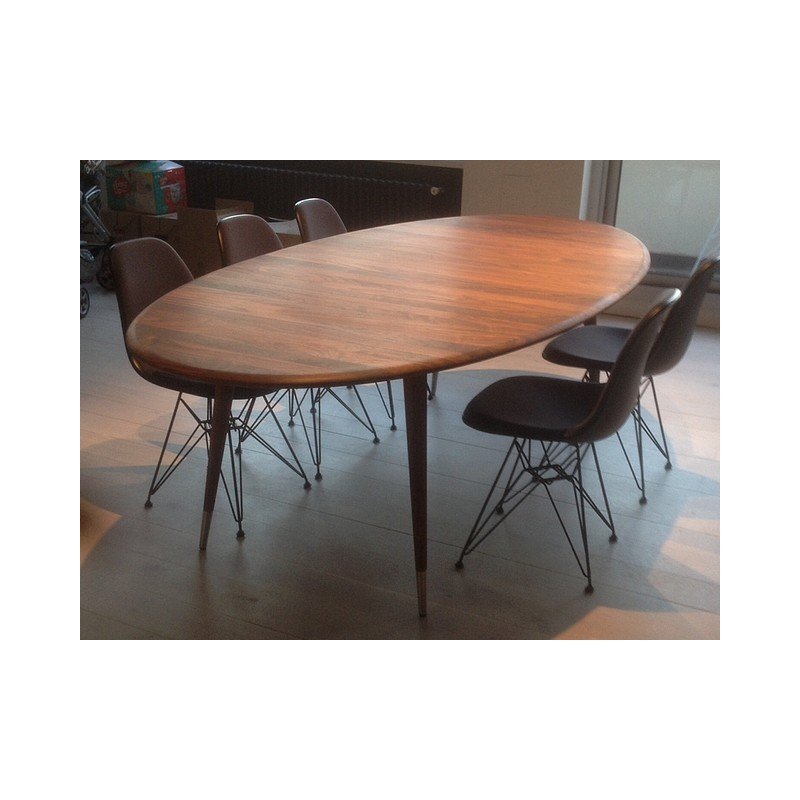 Table Bois Massif Extensible Table Ovale Extensible Point - Naver