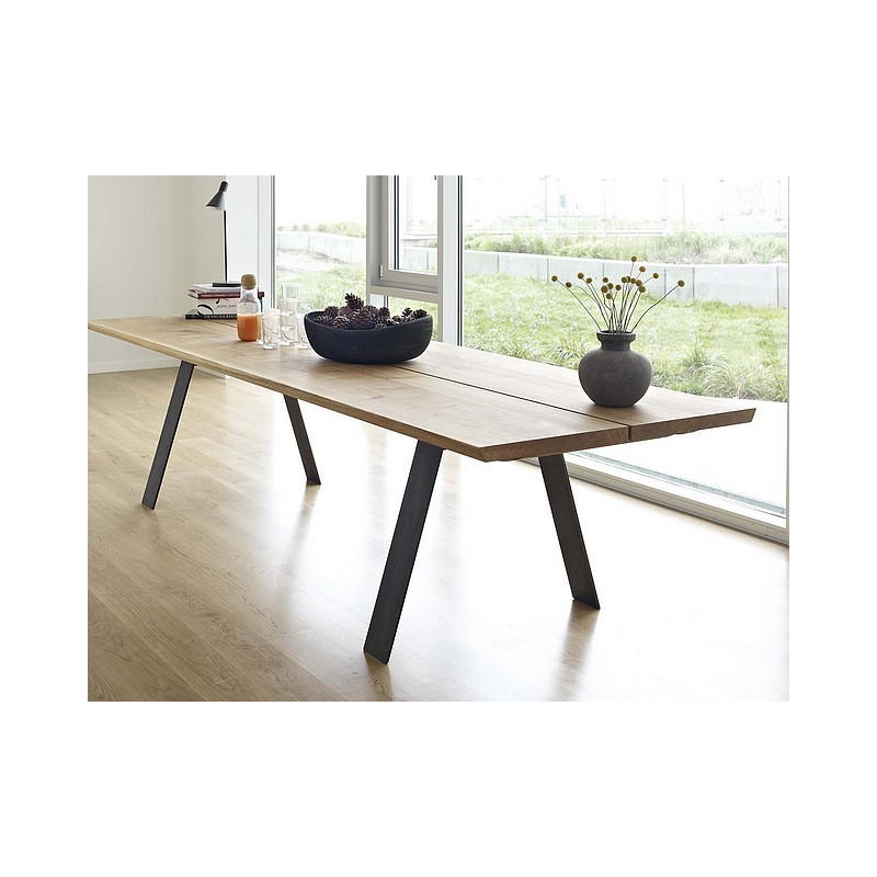 Table Haute Extensible Table De Repas Extensible Plank - Naver